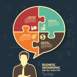 Business Concept Infographic Free Vector