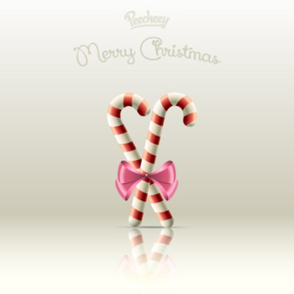 Candy Cane Holiday Free Vector