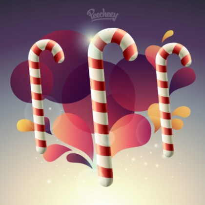 Candy Cane Free Vector