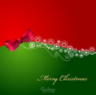Christmas Greeting Card Illustration Free Vector