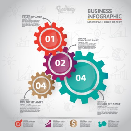 Cogwheels Infographics Free Vector