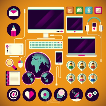 Computer Technology Free Vector