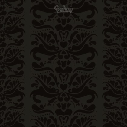Dark Vintage Floral Background  Seamless Free Vector