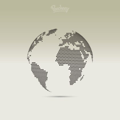 Dotted Globe Free Vector