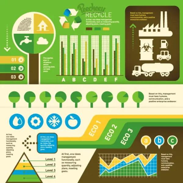 Eco Green Infographics Free Vector