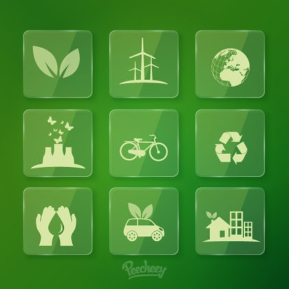 Ecology Icons Free Vector