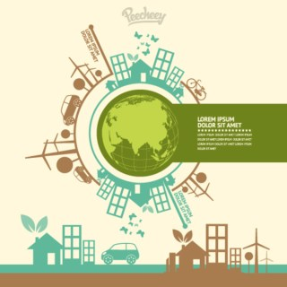 Ecology Infographic Concept Free Vector