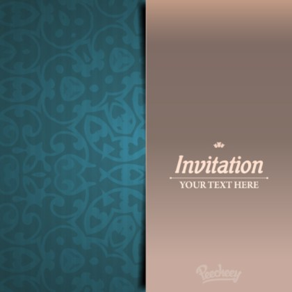 Elegant Invitation Card Free Vector