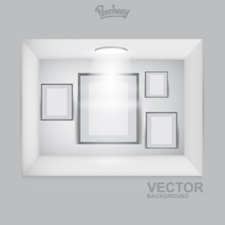 Empty Frames on the Spot Light Free Vector