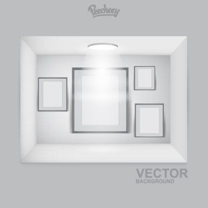 Empty Frames on the Spot Light Free Vector