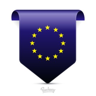 European Union Tag Free Vector