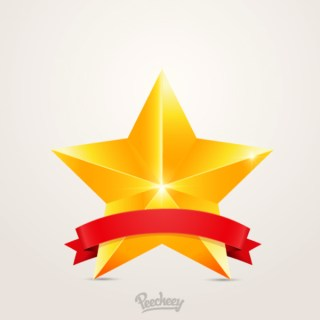 First Place Star Free Vector