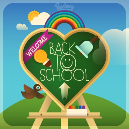 Going Back to School Illustration Free Vector