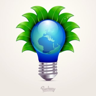 Light Bulb Ecology Concept Free Vector