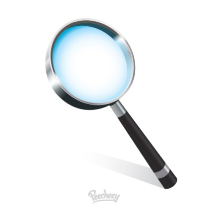 Magnifying Glass Isolated on White Free Vector