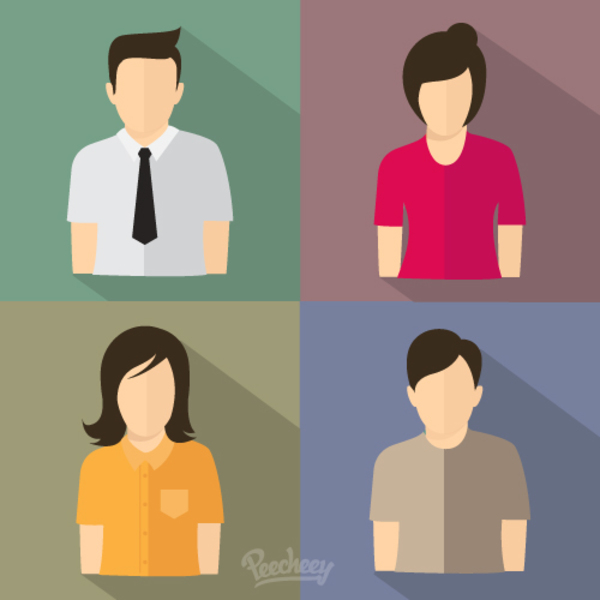 People Flat Icons Free Vector