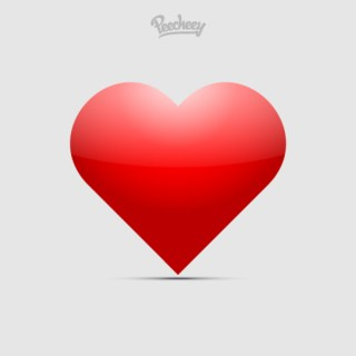 Red Heart in Love Free Vector