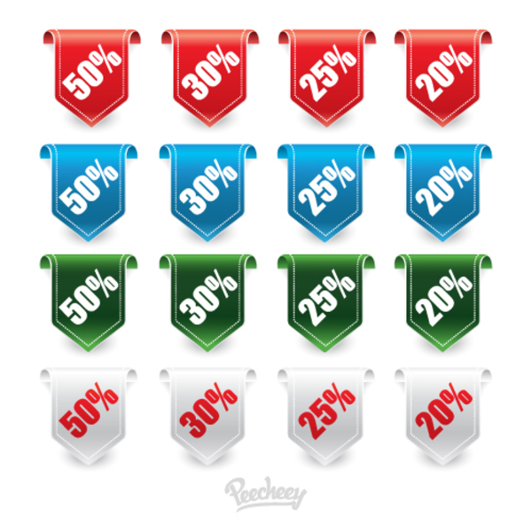 Sale Labels Collection Free Vector