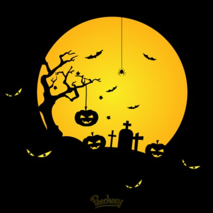 Scary Halloween Night Free Vector