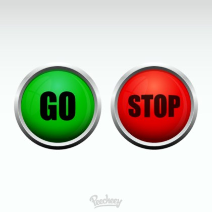 Stop and Go Button Free Vector