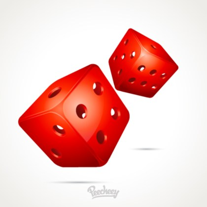 Stylized Dice Free Vector