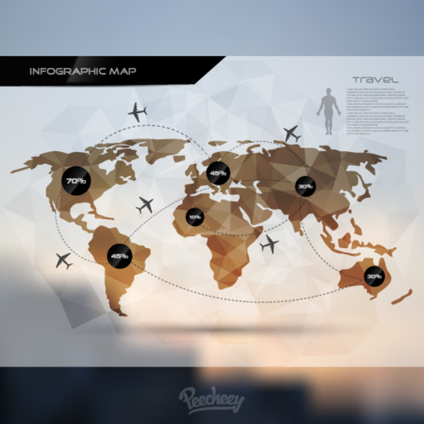 Travel Infographic Map Free Vector