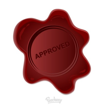 Wax Stamp Approved Free Vector
