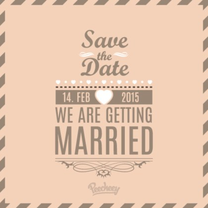 Wedding Invitation Free Vector