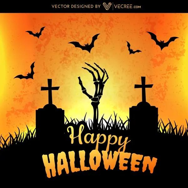 Happy Halloween Art Free Vector