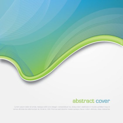 Abstract Cover Template Free Vector