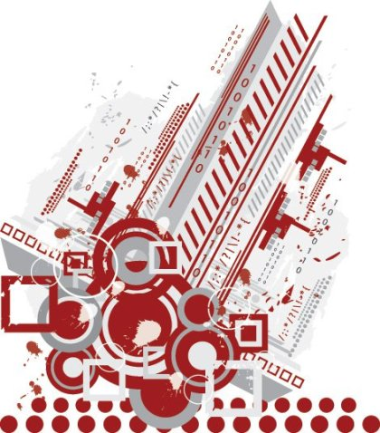Abstract Tech Background Free Vector