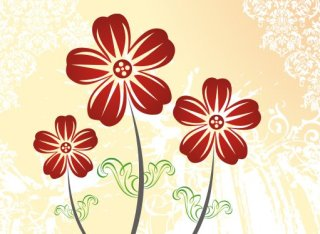 Autumn flowers Free Vector