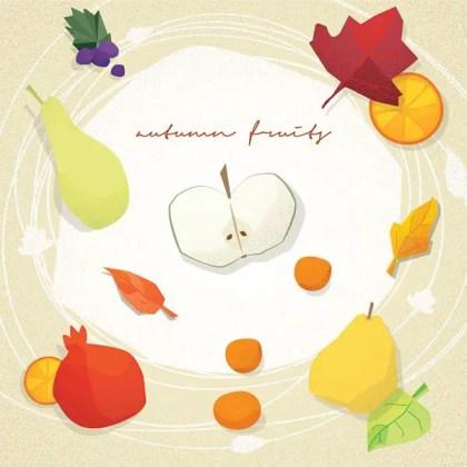 Autumn Fruits Free Vector