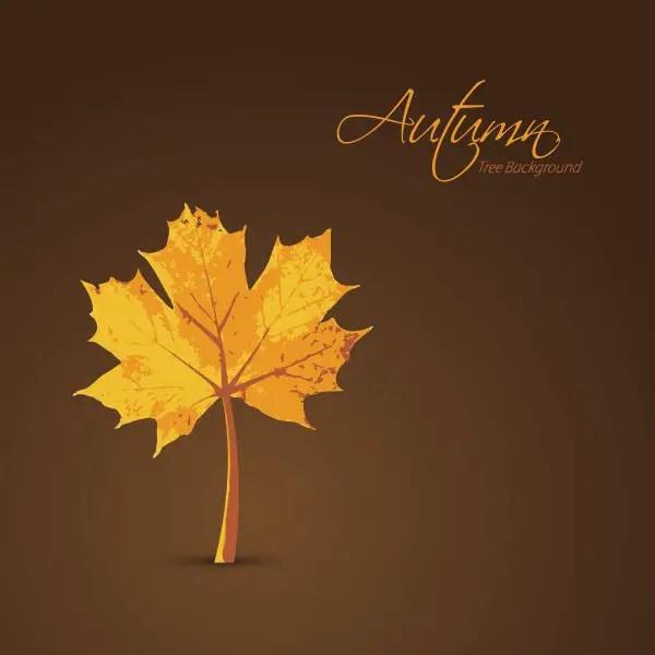 Autumn Tree Background Free Vector