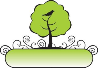 Banner Tree Free Vector
