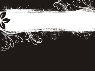 Black and white banner Free Vector