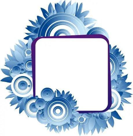 Blue laguna frame Free Vector