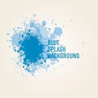 Blue Splash Background Free Vector
