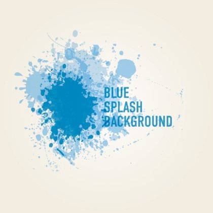 Blue Splash Background Free Vector