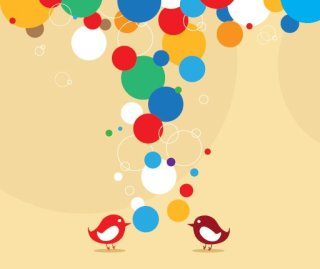 Bubble Birds Free Vector