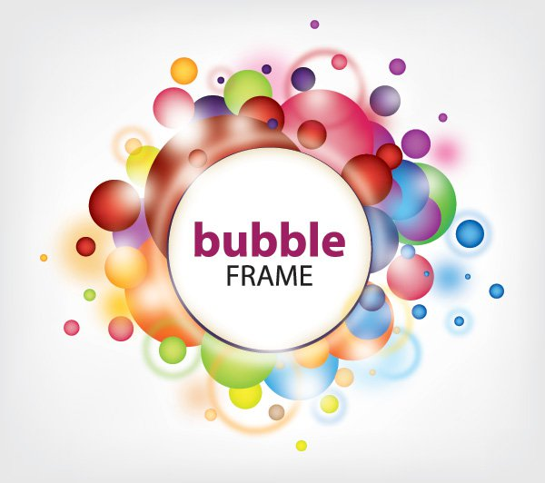 Bubble Frame Free Vector