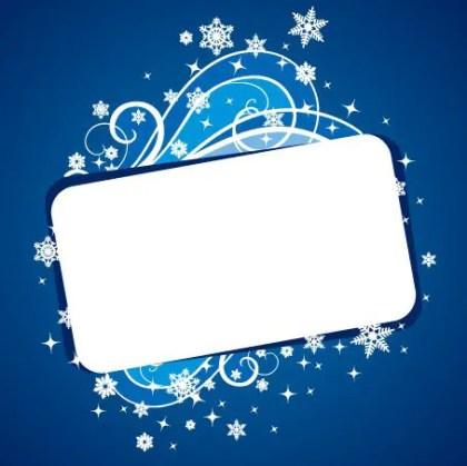 Christmas Banner Blue Free Vector