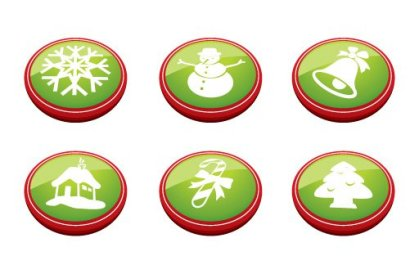 Christmas Buttons Free Vector