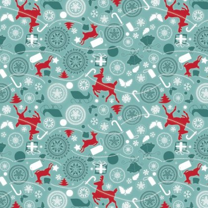 Christmas Decoration Pattern Free Vector