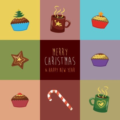 Christmas Greeting Card Free Vector