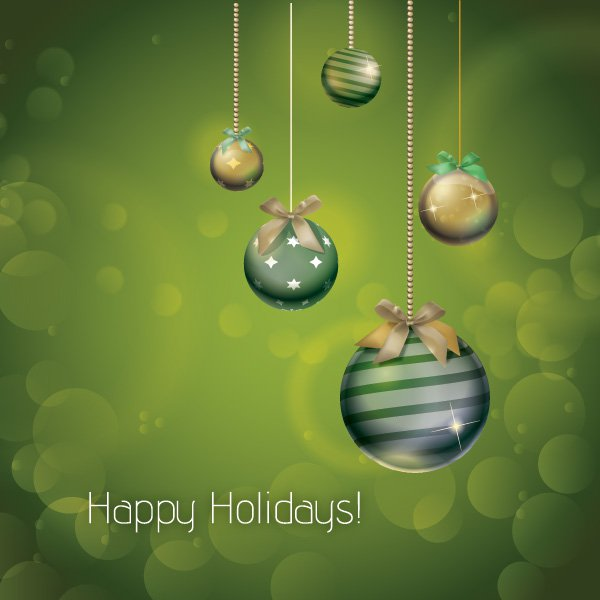 Christmas Ornaments Free Vector