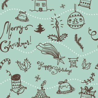 Christmas Seamless Pattern Free Vector