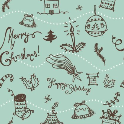 Christmas Seamless Pattern Free Vector