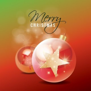 Christmas Star Ornaments Free Vector