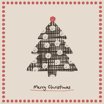 Christmas Tree Card Free Vector
